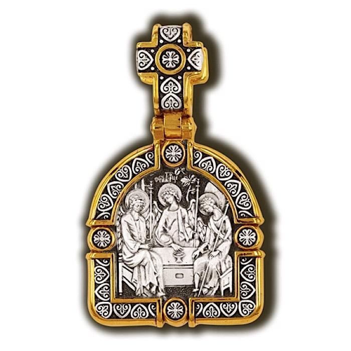 Sterling silver religious charm