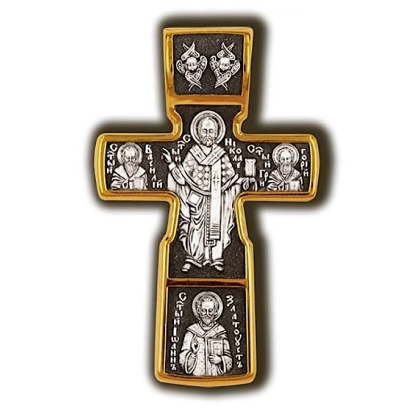 Jesus christ cross pendant gold