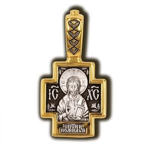 Lord Almighty Saint Panteleimon the Prelate. Orthodox cross.