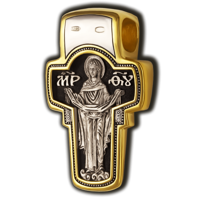Eastern orthodox cross necklace