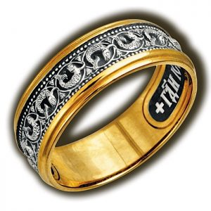 Christian ring - with symbols and prayer