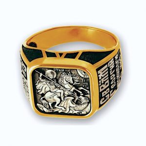 Orthodox christian ring - Great Martyr George the Victory-Bearer