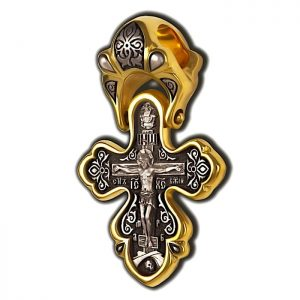 Crucifixion of Christ. Orthodox cross.