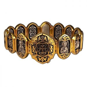Religious bracelet with saints - Matrona, Mary, Seraphim