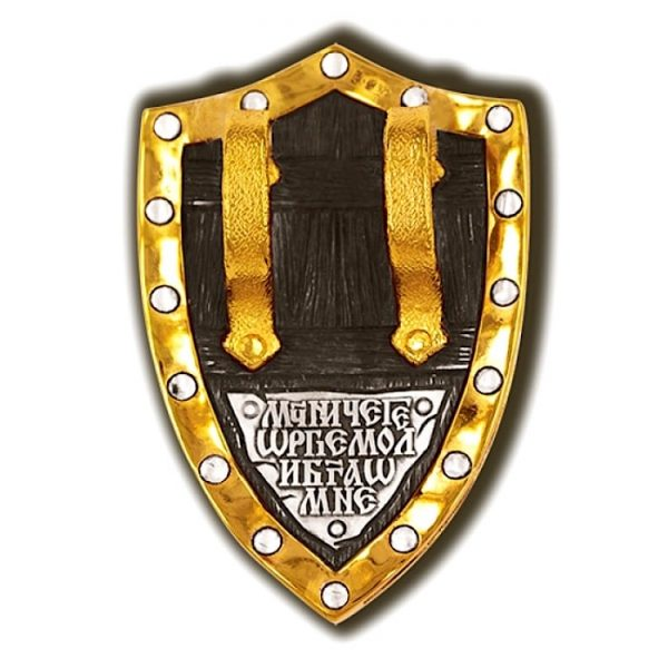 St george pendant in form of shield