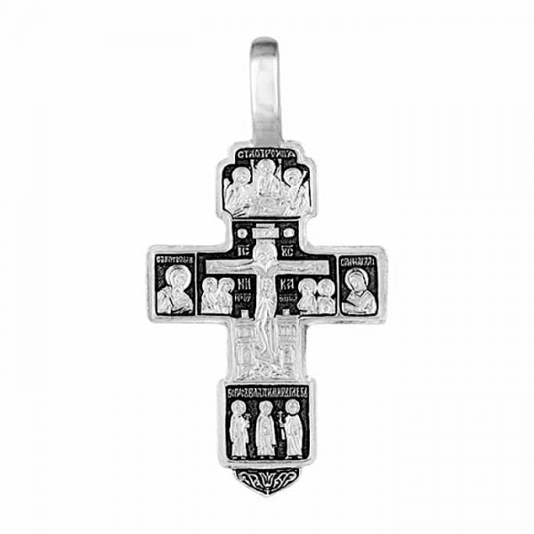 Solid silver crucifix necklace