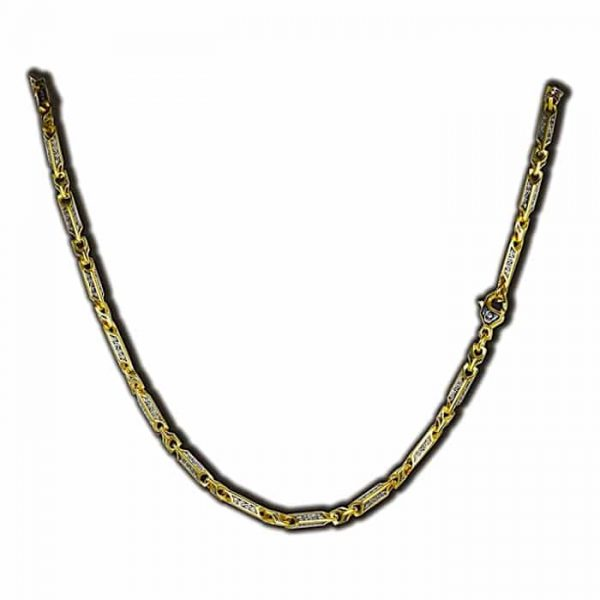 Gold and silver chain link necklace