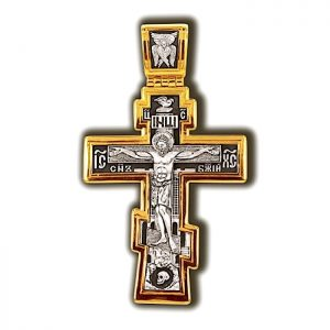 Russian cross - crucifix with prayer