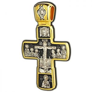 Orthodox pectoral cross - Crucifixion of Christ