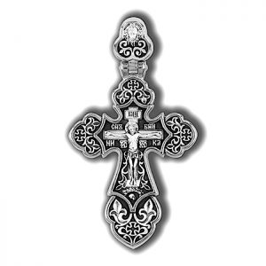 Crucifixion of Christ. Guardian Angel. Orthodox cross.