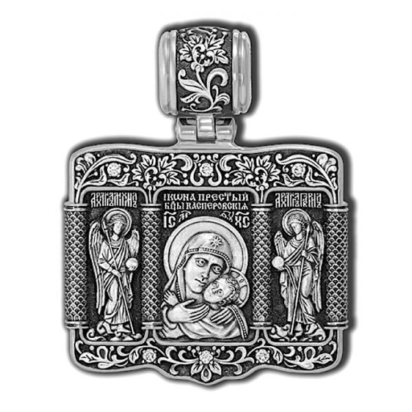 Mother mary pendant silver