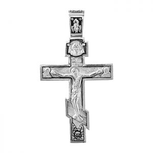 Mens sterling silver crucifix - orthodox