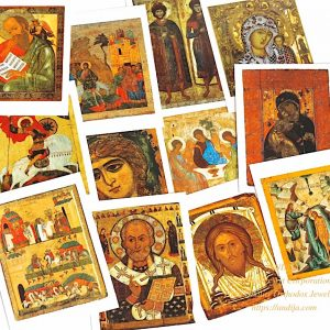 Saint prayer cards - 12 Rare Russian orthodox icon cards of Saints