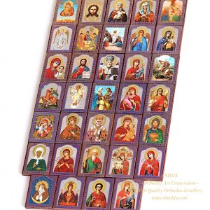 Hand painted orthodox icons - Set of 34 Small Wooden Icons Russian Orthodox Church