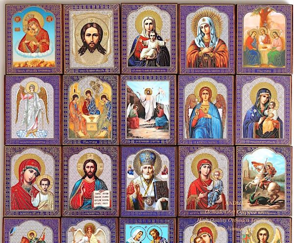 Hand painted orthodox icons