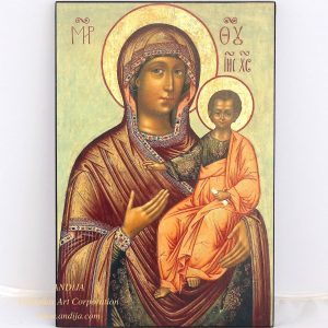 "Rare Russian orthodox icon - The Mother of God ""Hodegetria"". XVII cent."